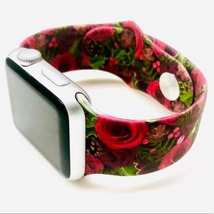 38/40mm Dual Print Red Rose Apple Watch Band